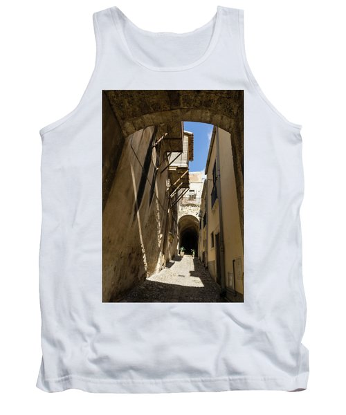 Limestone And Sharp Shadows - Old Town Noto Sicily Italy Tank Top