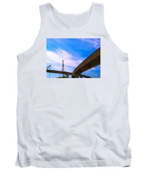 Tank Top featuring the photograph Lineing The Sky by Jamie Lynn