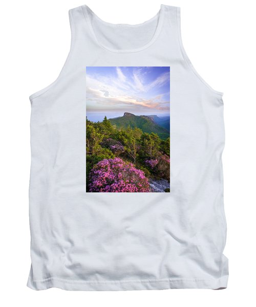 Linville Gorge Spring Bloom Tank Top by Serge Skiba