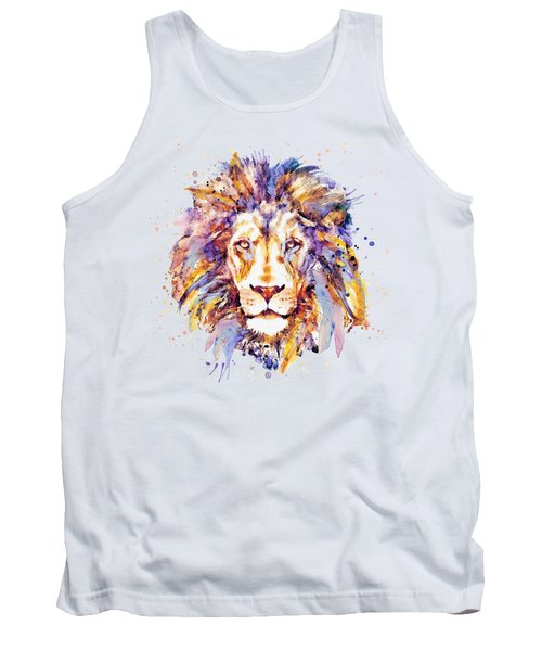 Lion Head Tank Top by Marian Voicu