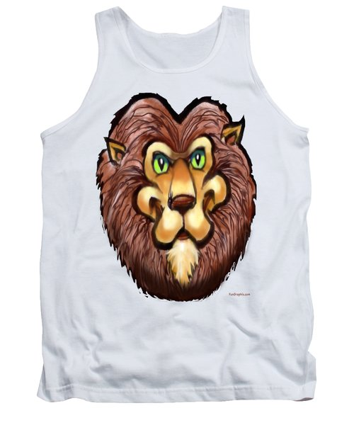 Lion Tank Top by Kevin Middleton