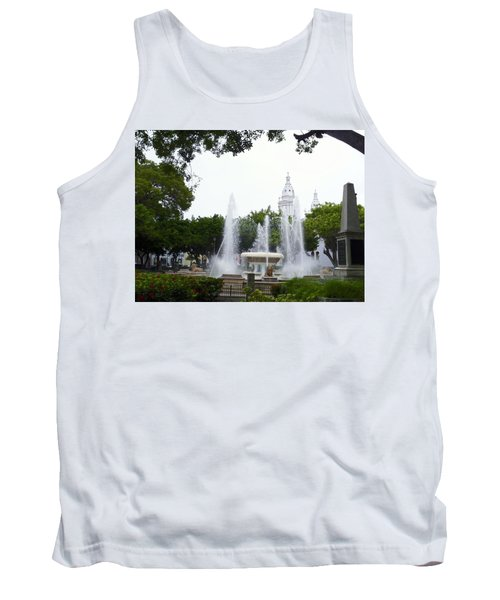 Lions Fountain Wide Tank Top