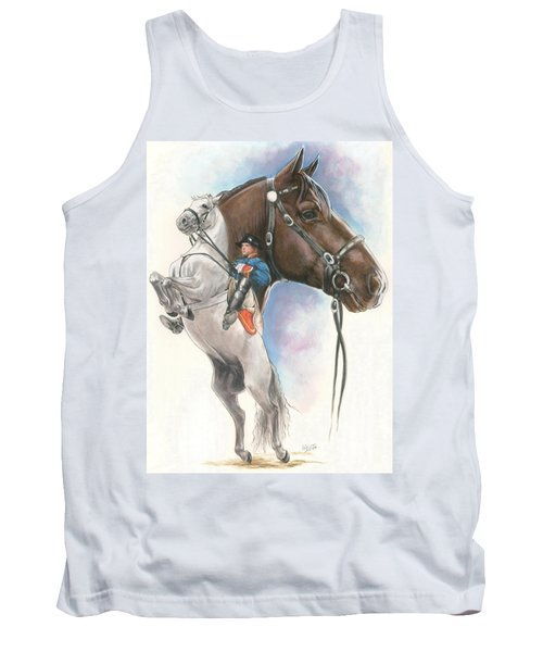 Tank Top featuring the mixed media Lippizaner by Barbara Keith