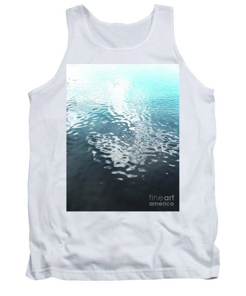 Tank Top featuring the photograph Liquid Blue by Rebecca Harman