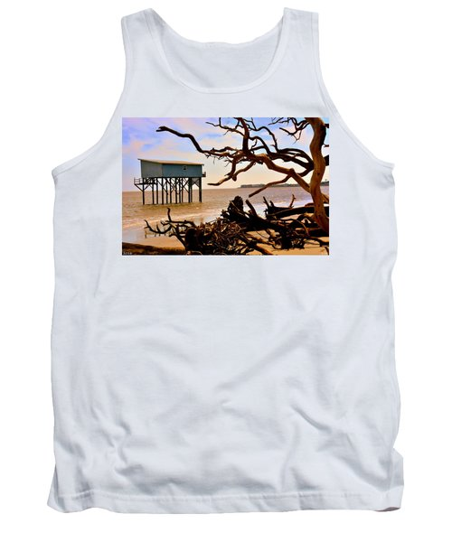 Little Blue Hunting Island State Park Beaufort Sc Tank Top