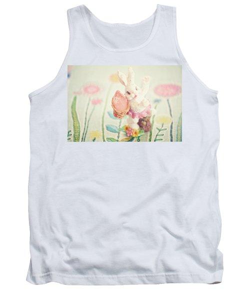 Little Bunny In The Garden Tank Top by Toni Hopper