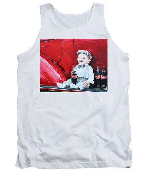 Tank Top featuring the painting Little Mason by Mike Ivey