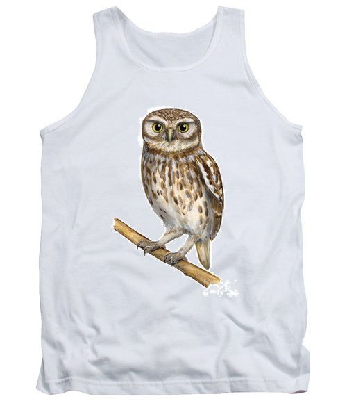 Little Owl Or Minerva's Owl Athene Noctua - Goddess Of Wisdom- Chouette Cheveche- Nationalpark Eifel Tank Top