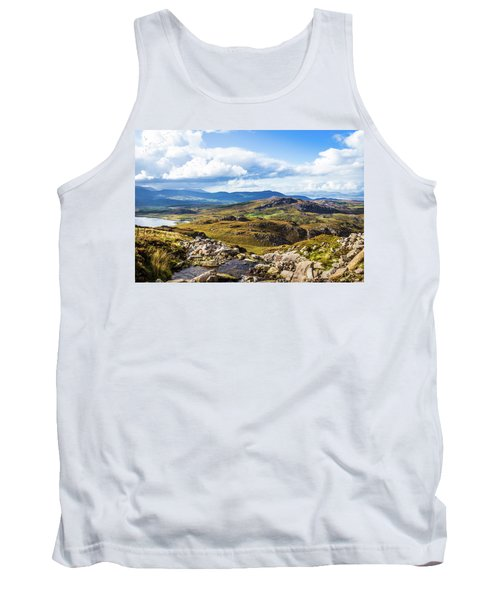 Tank Top featuring the photograph Little Stream Running Down The Macgillycuddy's Reeks by Semmick Photo