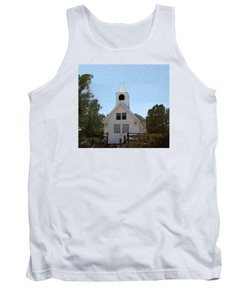 Little White Church Tank Top by Walter Chamberlain