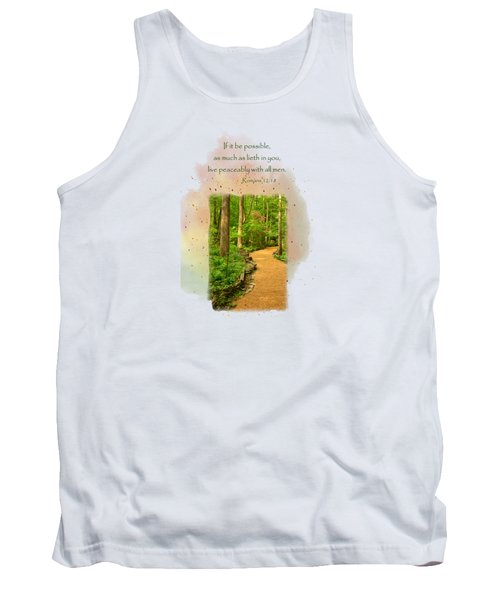 Live In Peace Tank Top by Larry Bishop
