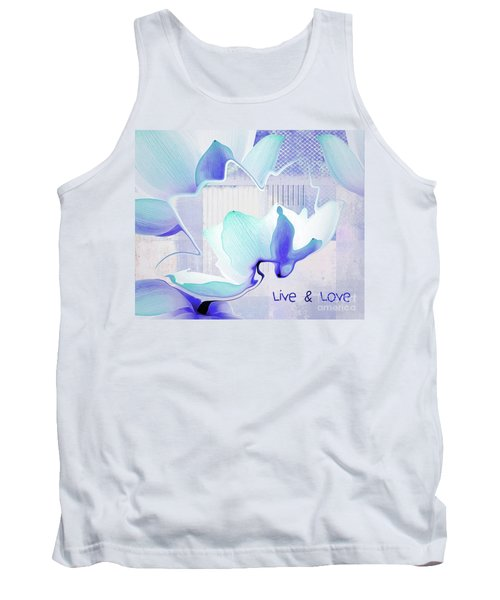 Tank Top featuring the photograph Live N Love - Absf43 by Variance Collections