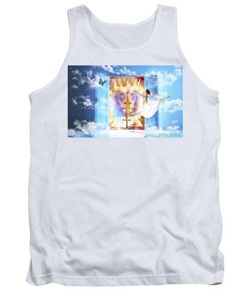 Tank Top featuring the digital art Living Word Of God by Dolores Develde