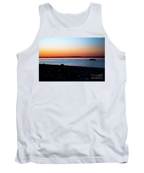 Lobster Boat In Maine Tank Top by Diane Diederich