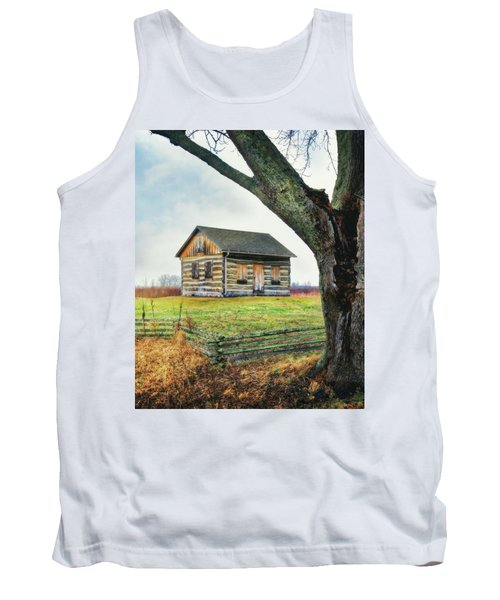 Log Cabin - Paradise Springs - Kettle Moraine State Forest Tank Top by Jennifer Rondinelli Reilly - Fine Art Photography