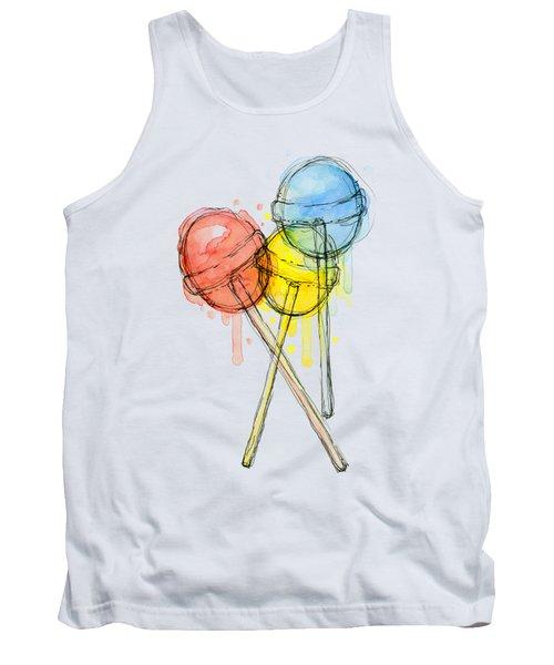 Lollipop Candy Watercolor Tank Top