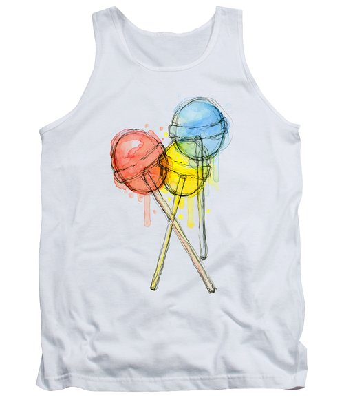 Lollipop Candy Watercolor Tank Top