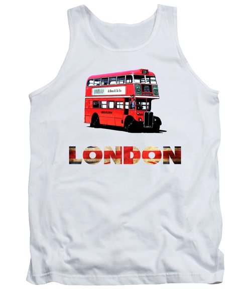 London Red Double Decker Bus Tee Tank Top