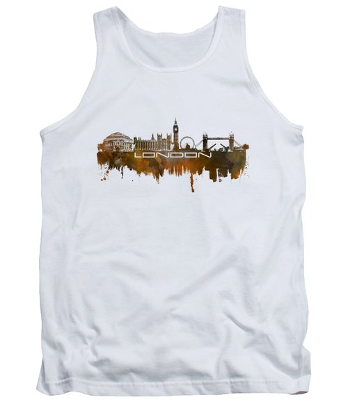 London Skyline City Brown Tank Top