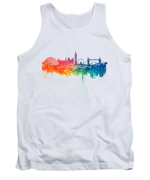 London Skyline City Color Tank Top by Justyna JBJart