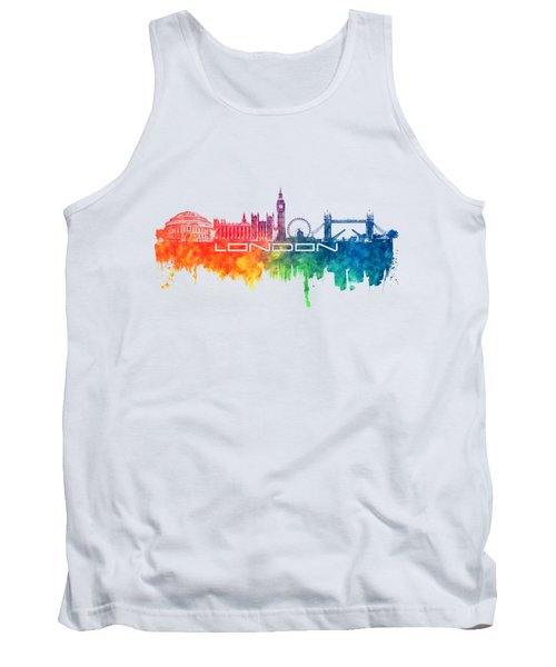 London Skyline City Color Tank Top