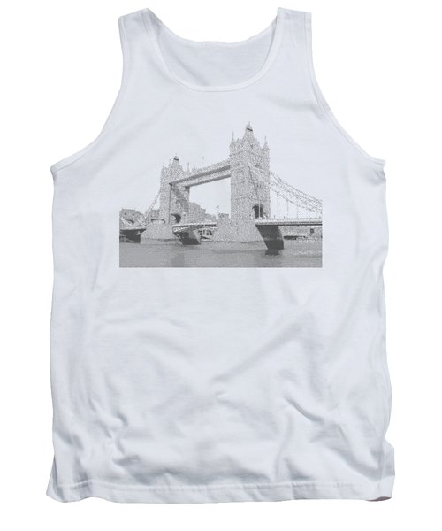 London Tower Bridge - Cross Hatching Tank Top