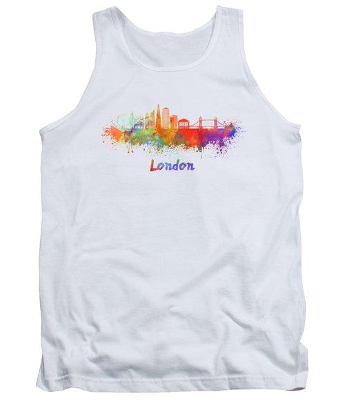 London V2 Skyline In Watercolor  Tank Top by Pablo Romero