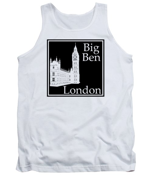 London's Big Ben In Black Tank Top by Custom Home Fashions