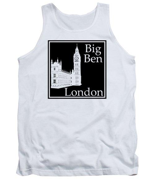 London's Big Ben In Black Tank Top