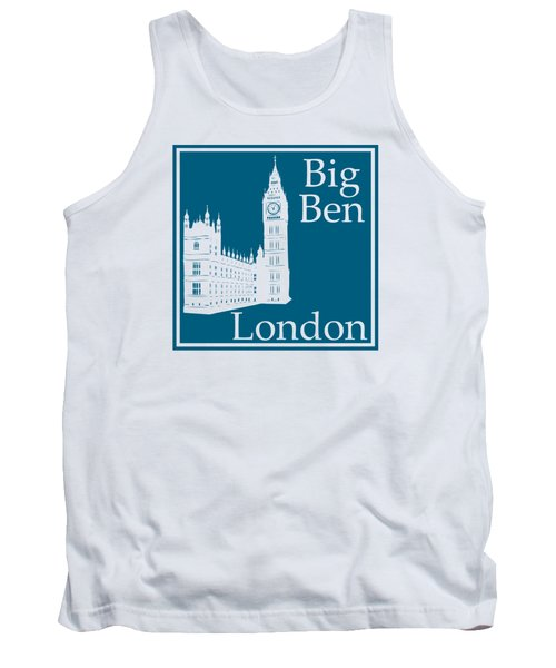 London's Big Ben In Blue Lagoon Tank Top by Custom Home Fashions