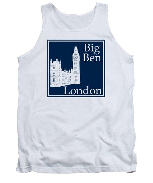 London's Big Ben In Oxford Blue Tank Top