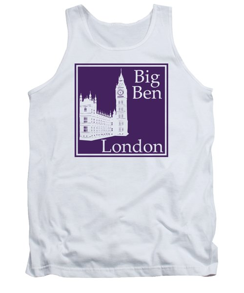 London's Big Ben In Purple Tank Top by Custom Home Fashions