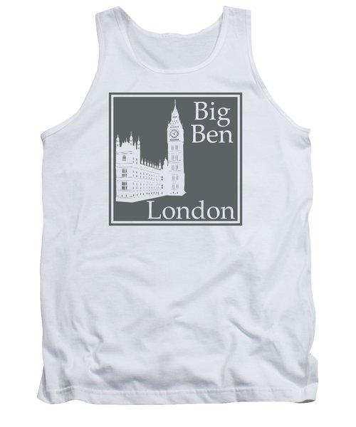 London's Big Ben In Storm Gray Tank Top