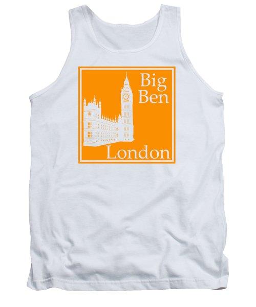 London's Big Ben In Tangerine Tank Top