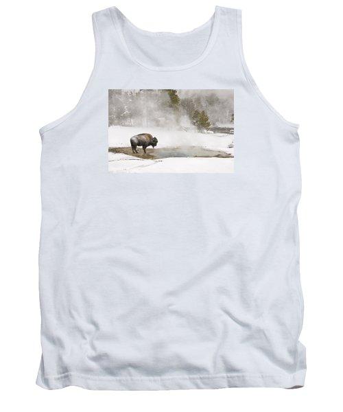 Bison Keeping Warm Tank Top