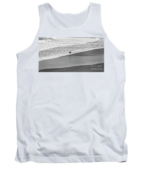 Tank Top featuring the photograph Lone Surfer by Nicholas Burningham