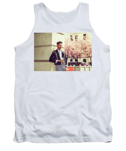 Lonely Boy With White Rose 15042643 Tank Top