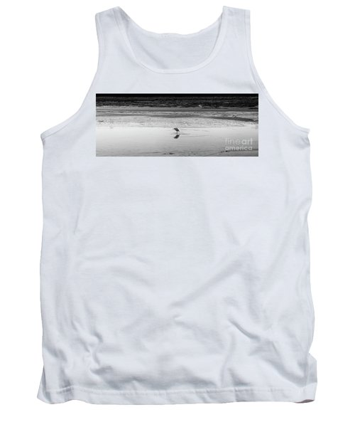 Tank Top featuring the photograph Lonely Heron by Nicholas Burningham