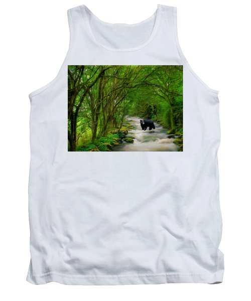 Tank Top featuring the painting Lonely Hunter by Steven Richardson