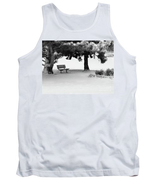 Lonely Park Bench Tank Top