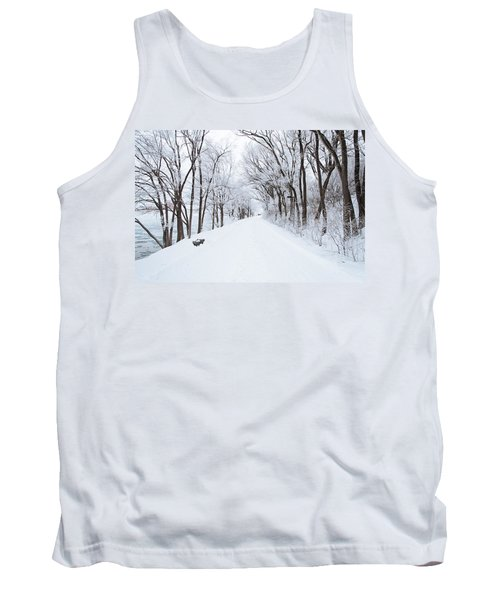 Lonely Snowy Road Tank Top by  Newwwman