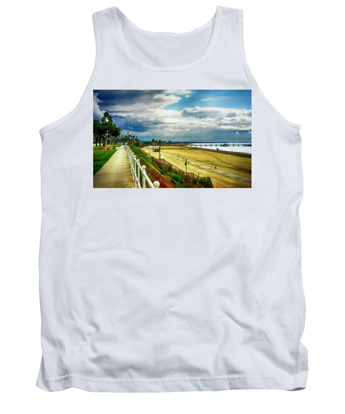 Tank Top featuring the photograph Long Beach Bluff Park by Joseph Hollingsworth