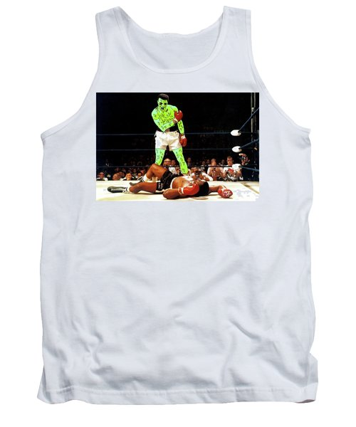 Tank Top featuring the painting Long Live Ali by Chief Hachibi