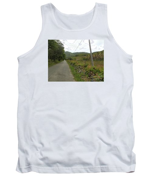 Long Road Into Colombier Tank Top by Margaret Brooks