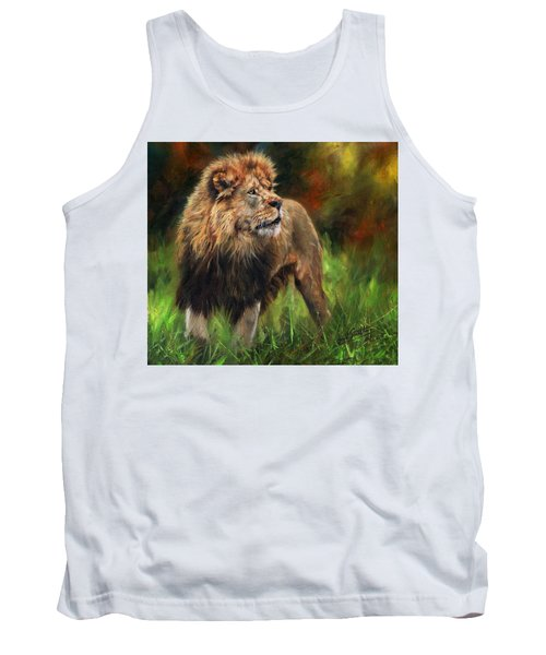 Tank Top featuring the painting Look Of The Lion by David Stribbling