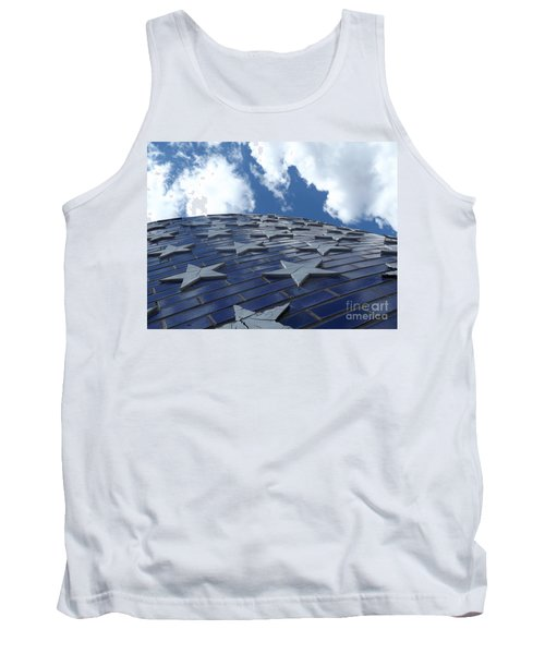 Lookig Up At The Stars And Blue Sky Tank Top