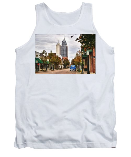 Looking Down Dauphin Street And The Blue Truck Tank Top