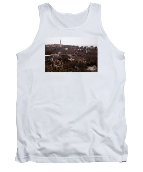 Looking North From  Lafayette And Summit. Tank Top by David Blank