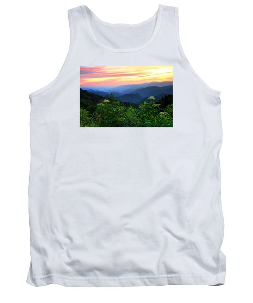 Looking Out Over Woolyback On The Blue Ridge Parkway  Tank Top