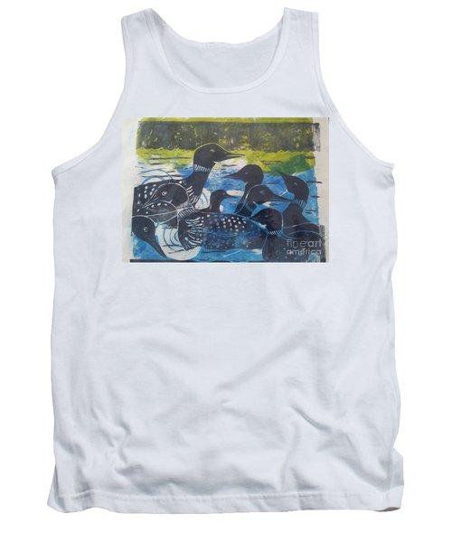 Loon, I See Tank Top by Cynthia Lagoudakis